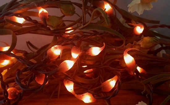 Primitive Halloween / Autumn Hand Dipped Spiced Pumpkin Lights