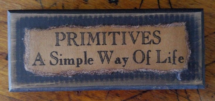 Handmade Primitives Distressed Wood Message Block