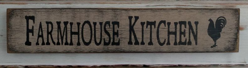 Farmhouse Kitchen Ivory Wooden Message Block / Wall Sign
