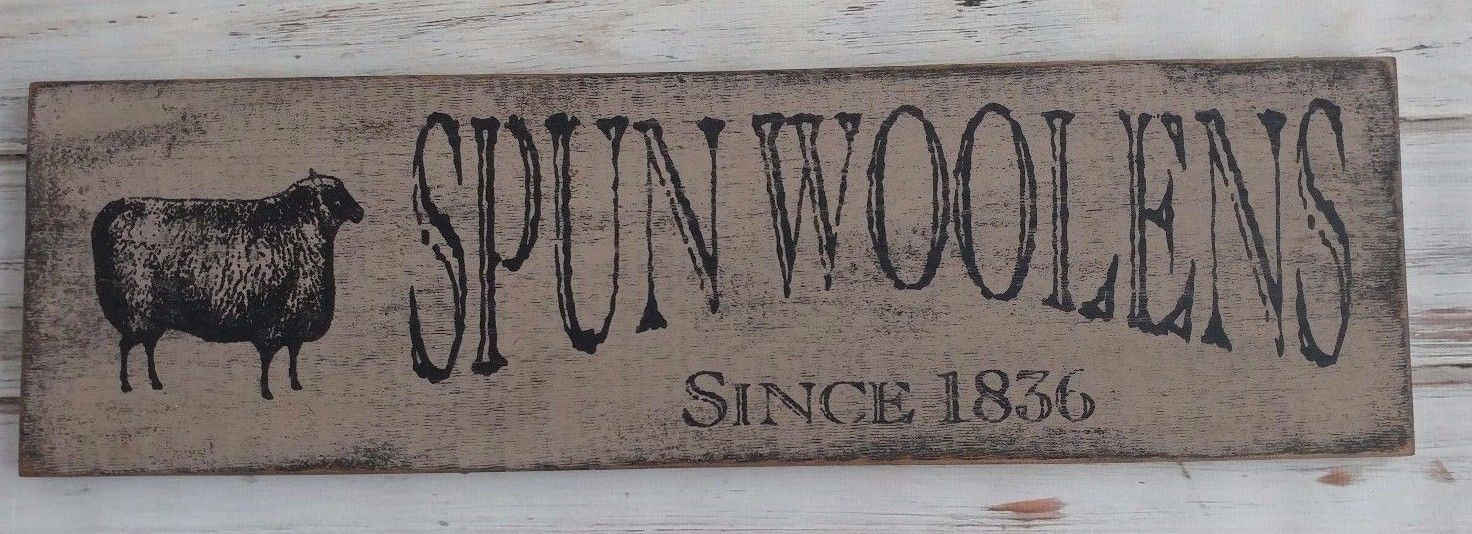 Farmhouse Woolens Sheep Wooden Wall Sign