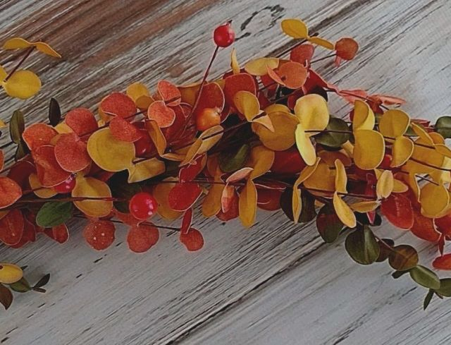 Rustic Autumn / Fall Bittersweet Berry Garland