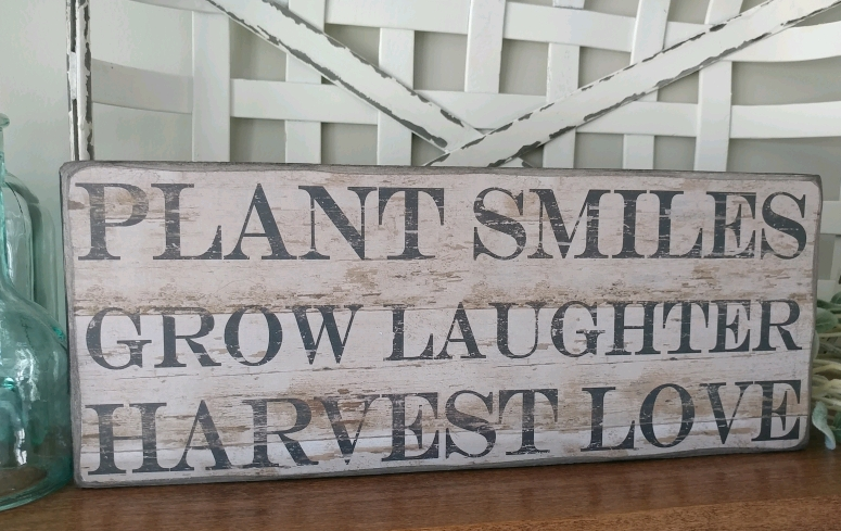 Rustic Farmhouse Cottage Garden Harvest Love Box Sign