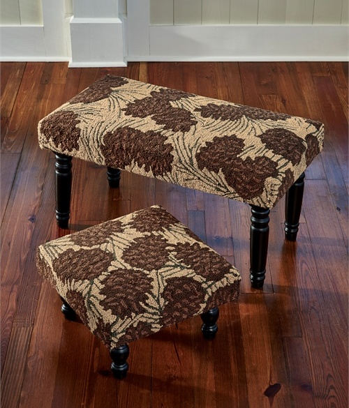 Rustic Walk in the Woods Pinecone Bench / Stool