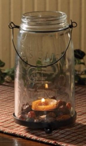 Country Mason Jar Tealight / Votive Candle Holder