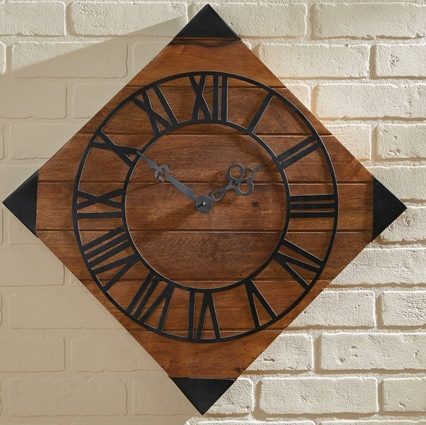 Colonial Tavern Style Rustic Hogarth Large Wall Clock
