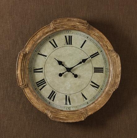 Rustic Distressed Wood Wall Clock