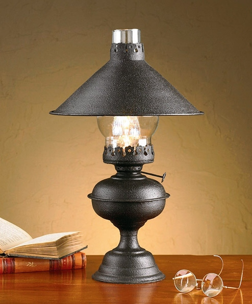 Primitive Country Black Hartford Lamp with Shade