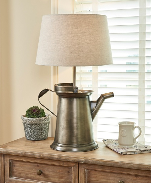 Farmhouse Country Style Large Coffee Pot Lamp