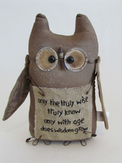 Primitive Wise Old Owl