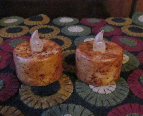 Timer Ivory Cinnamon Flameless Tealight Candles
