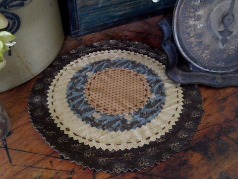 "Country Scrapbook Homespun Cotton 10"" Table Mat"