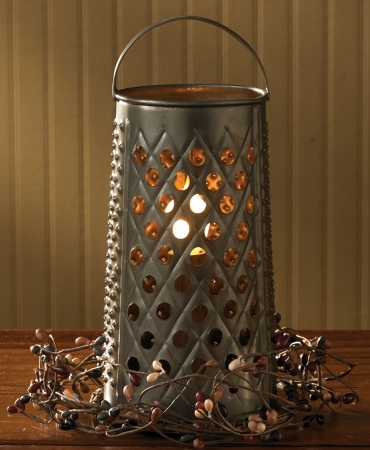 Reproduction Cheese Grater Electric Light / Lantern