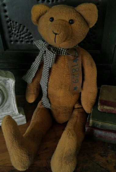 Primitive Country 1829 Fabric Home Decor Teddy Bear