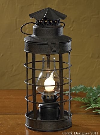 Primitive Country Coach Lantern Electric Flamless Lamp