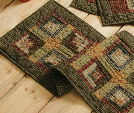 Quilted Patchwork Tea Cabin Table Runner