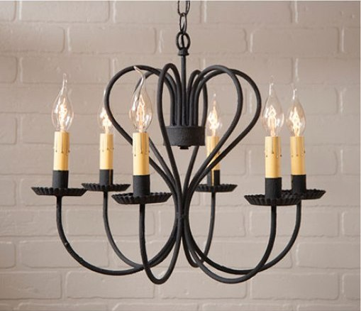 #P86764BG Rustic Georgetown Large Chandelier Light Fixture - Made In USA
