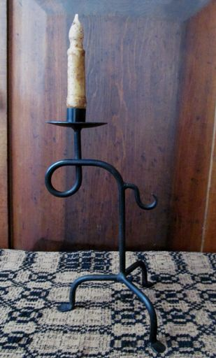 Primitive Colonial Lathem Light Taper Candle Holder