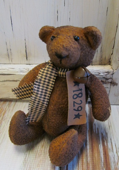 Small 1829 Primitive Home Decor Display Teddy Bear