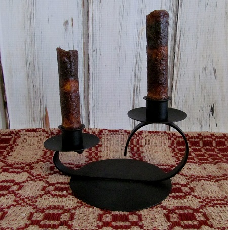 Colonial Summit Double Taper Candle Holder