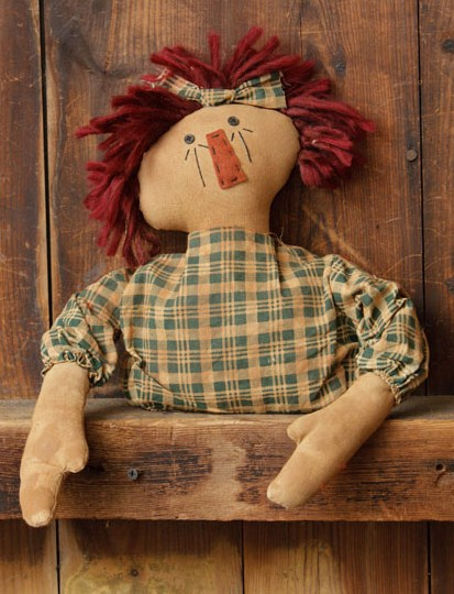 Primitive Country Raggedy Ann Shelf Sitter