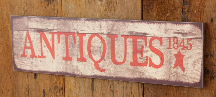 Rustic Primitive Antiques Wall Sign