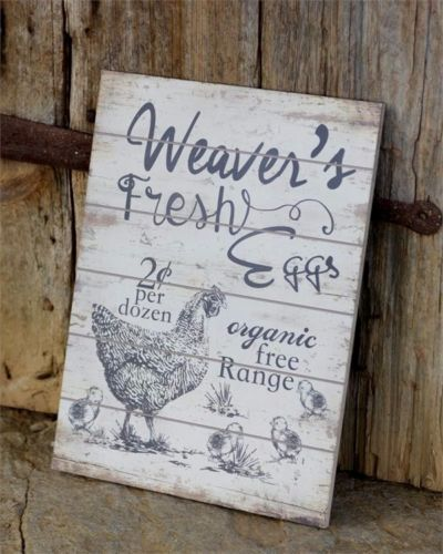 Rustic Farmhouse Fresh Eggs Sign