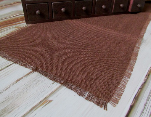 Country Cocoa Burlap Rustic Home Decor Table Runner