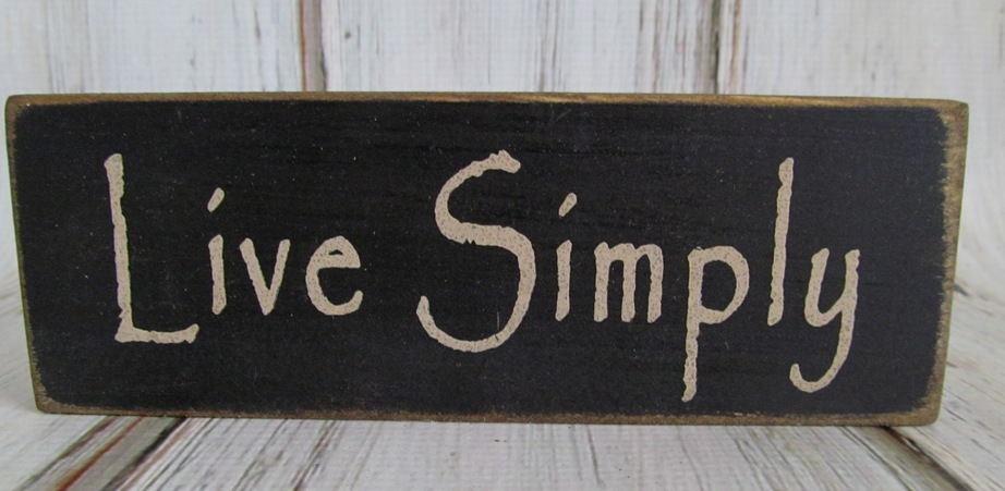 Primitive Live Simply Wooden Message Block