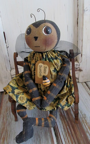 Primitive Country Baby Bee Home Decor Doll
