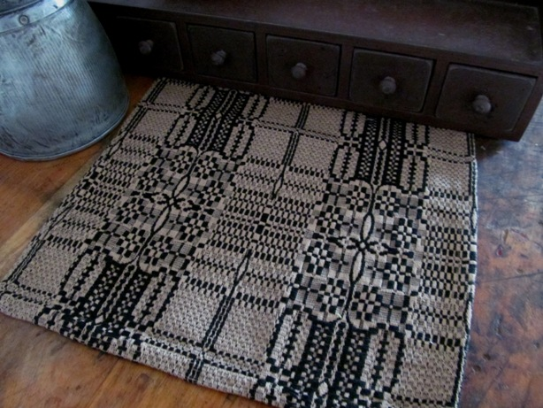 Windmere Black & Tan Primitive Woven Runner