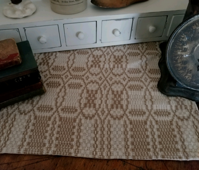 Farmhouse Woven Shaker Cross Cream and Woven Table Runner