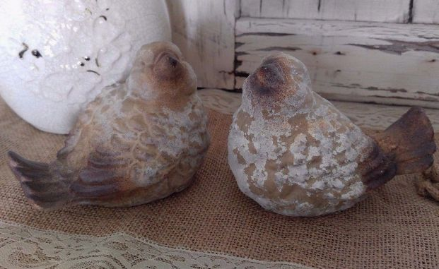 Country Cottage Set of 2 Rustic Birds