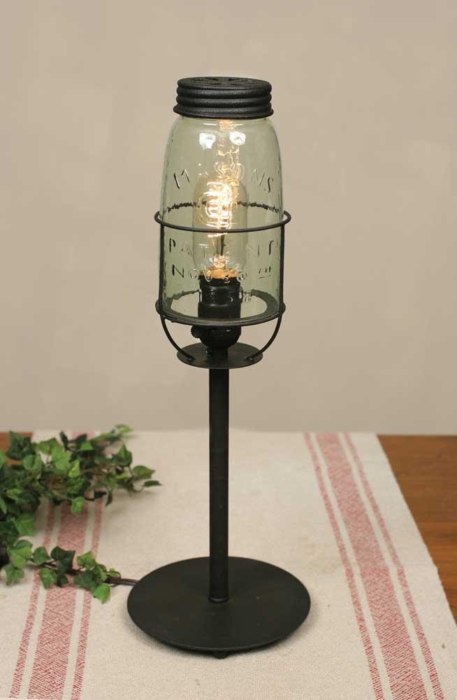 Rustic Farmhouse Mason Jar Desk Lamp