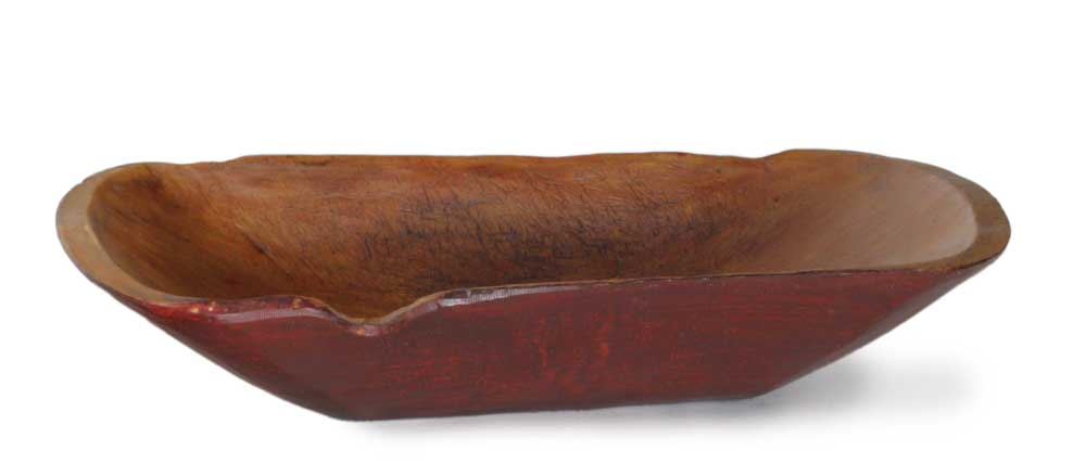 Large Notched Cranberry Trencher Reproduction Treenware