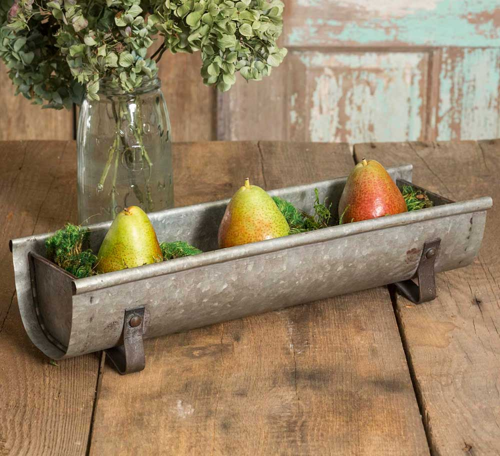 Rustic Farmhouse Chicken Feeder Decorative Planter / Display Tray