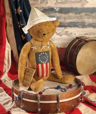 Yankee Doodle Dandee Americana Patriotic Bear