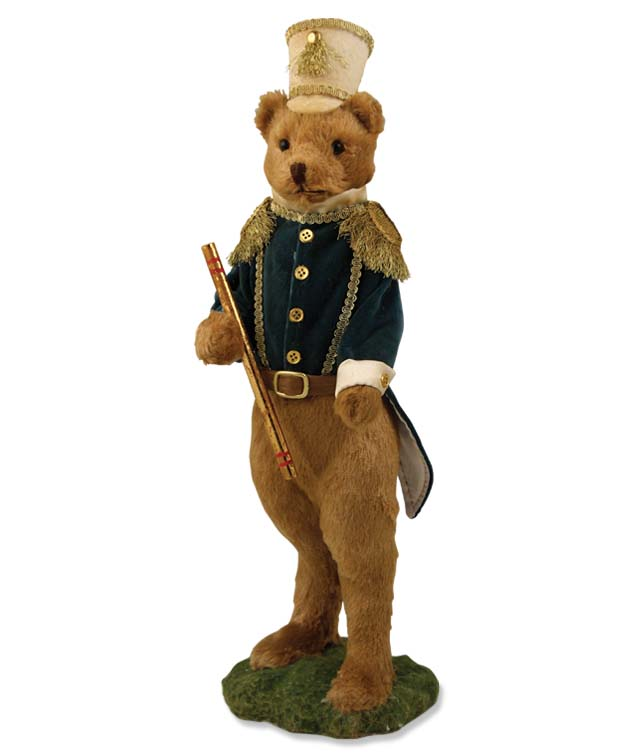 Folk Parade Teddy Bear Figure - Home Decor Accent Piece Bethany Lowe