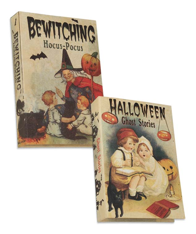 Vintage Inspired Halloween Display Nesting Books