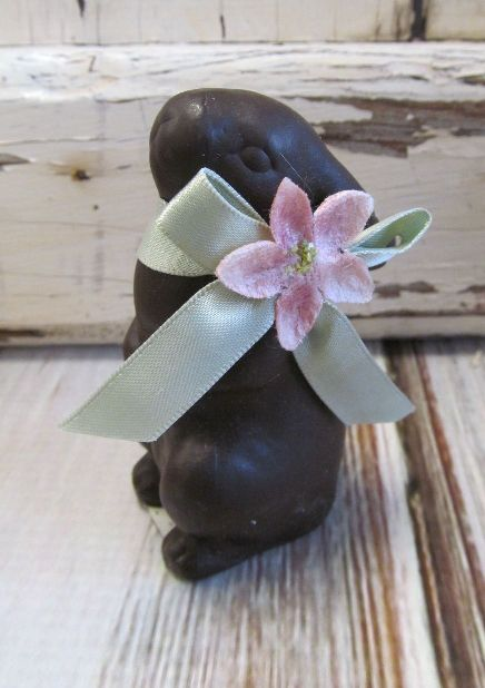Chocolate Mini Easter Bunny Figurine