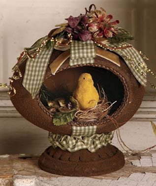 Chocolate Egg and Chick Vintage Inspired Easter Vignette
