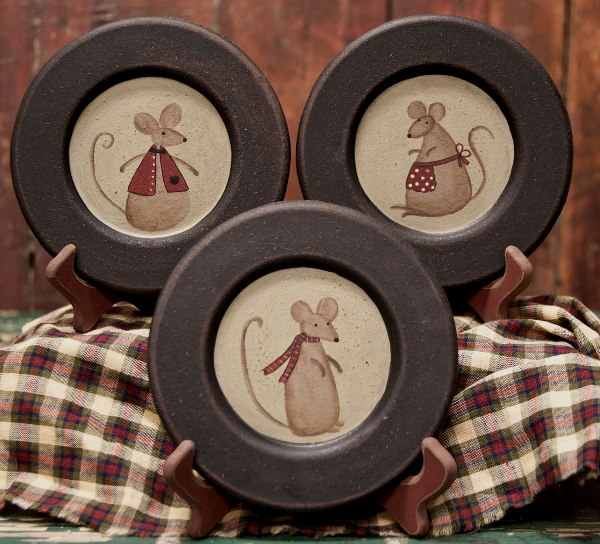 Country Mice Plate Set -
