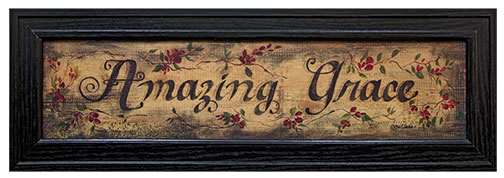 Rustic Country Amazing Grace Framed Print Wall Sign