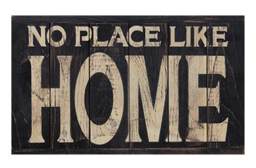 Primitive Country No Place Like Home Panel Sign
