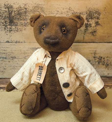 Primitive Country Barrett Boy Teddy Bear Rustic Home Decor Display Doll