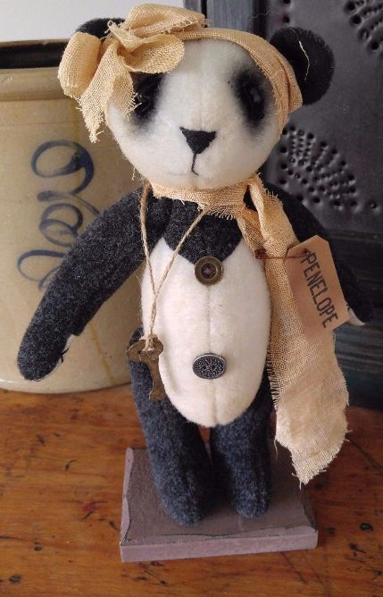 Country Standing Panda Home Decor Display Bear
