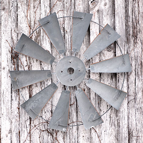 #K17-58 Farmhouse Style Oversived Windmill Wall Hanging