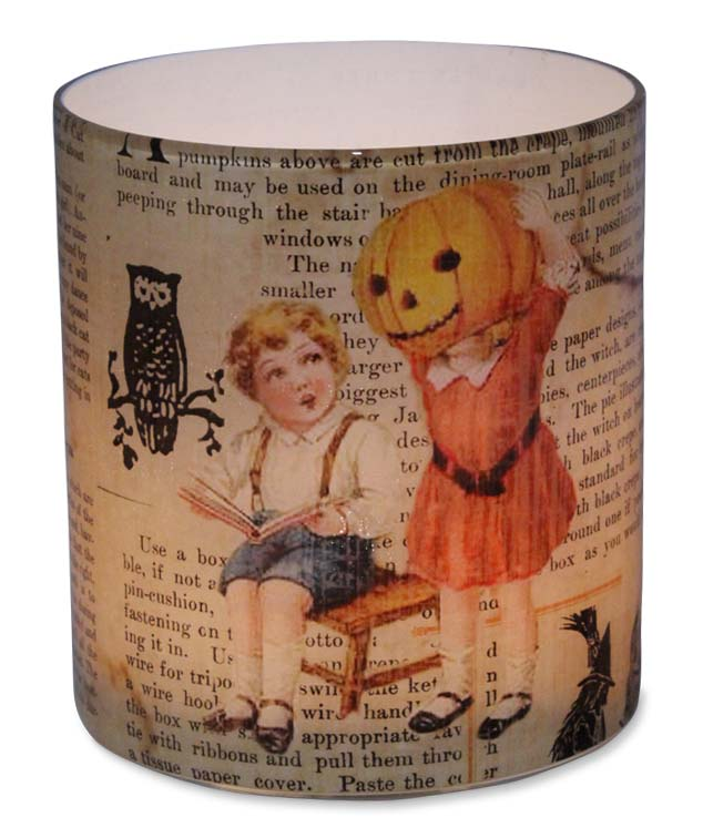 Vintage Inspired Halloween Glass Votive Candle Holder