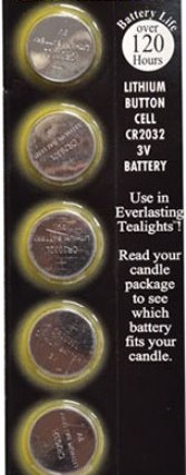 CR2032 3V Batteries for Tealight Candles