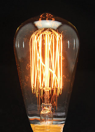 Edison Style Primitive Light Bulb