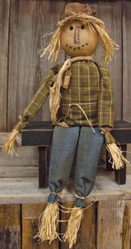 Primitive Scarecrow Sam Halloween /  Autumn Country Decor Doll
